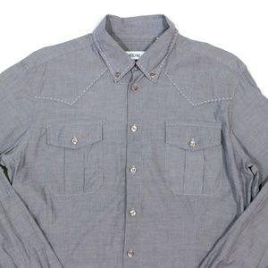 Moschino Shirts - MOSCHINO Slim Fit Button Embroidered Pocket Shirt